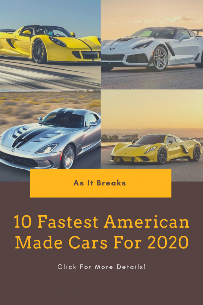 10 Fastest American Made Cars For 2020